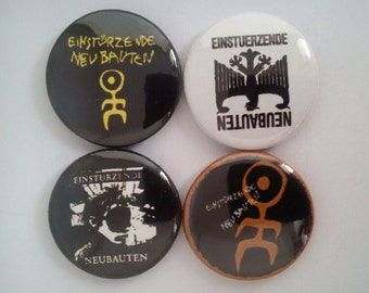 "4 x Einsturzende Neubauten 1"" Pin Button Badges ( industrial blixa bargeld music )"