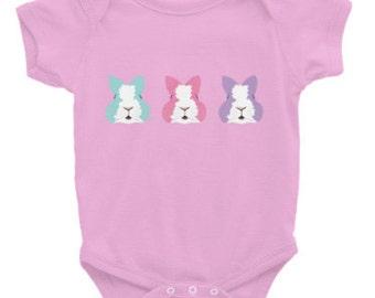 Easter Bunny Onesie- ZuzuPumkinLove Infant Onesie -Bunny Onesie - Rabbit Onesie - Baby Onesie -