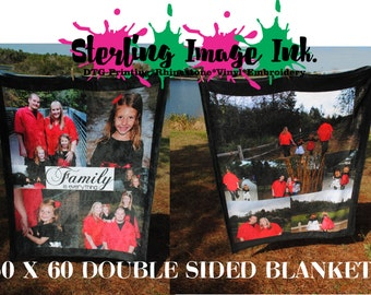 Double Sided Photo Blanket, Picture Blanket, Teacher Gift, Mothers Day Gift, Custom Gift, Personalized Gift, Custom Photo Gift, Christmas
