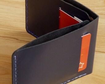 Ultra Slim Wallet 2, men's leather wallet, handmade minimalist kangaroo leather wallet