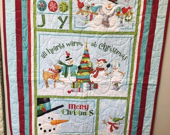 Whimsical Snowman Quilt