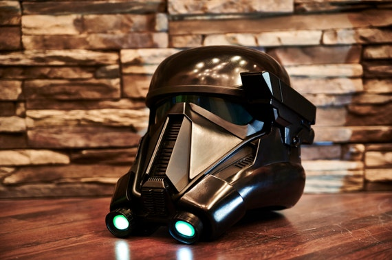 star wars rogue one death trooper helmet fan made prop raw. Black Bedroom Furniture Sets. Home Design Ideas