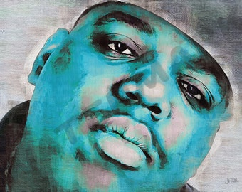 Notorious B I G Art Print - Rapper Oil Painting Poster  LFF0197