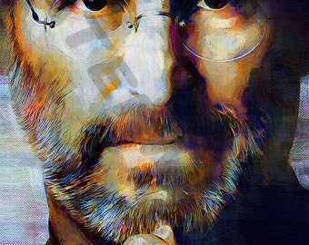 Steve Jobs Art Print - Oil Painting Poster  LFF0192