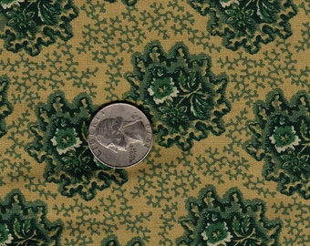 Quilter's Fat Quarter Shelburne Museum OOP Sarah Johnson Green Floral