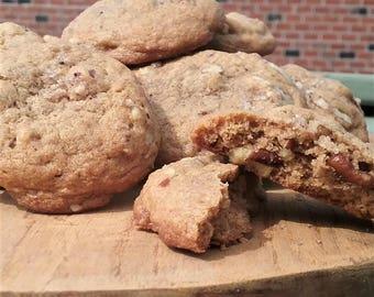 Cinnamon Pecan Cookies with Vanilla Bean Salt