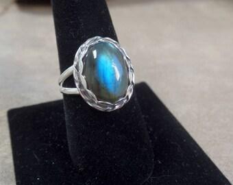 Opulent Labradorite Ring 1256