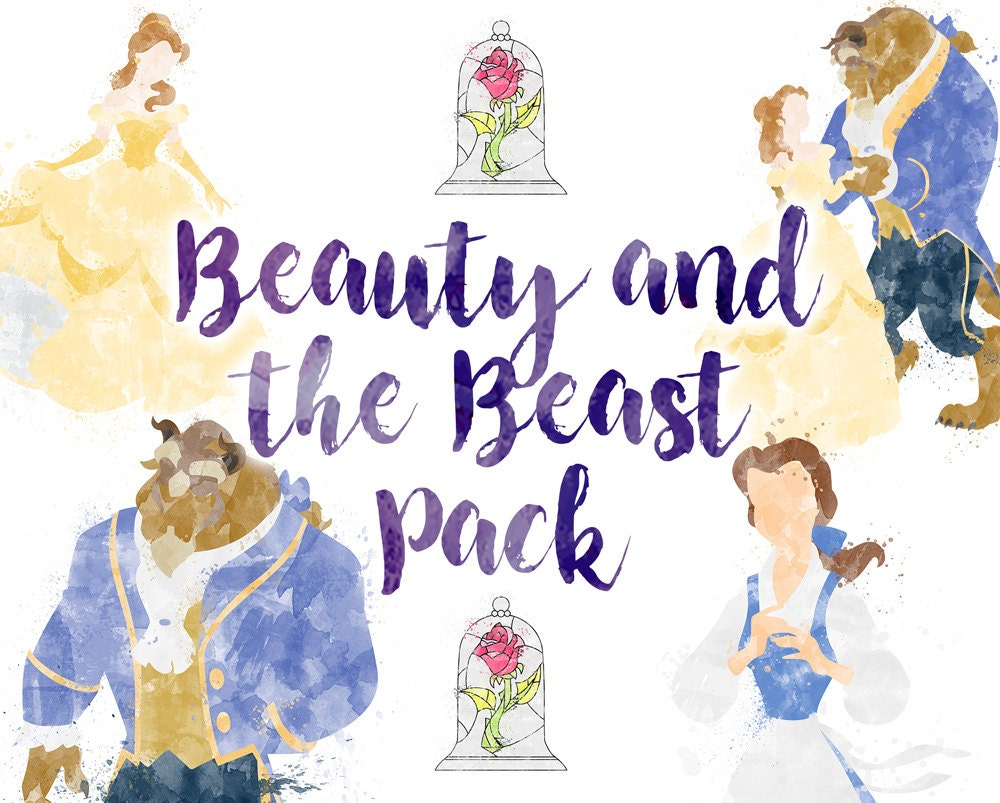 Download Beauty And Beast: Beauty And The Beast 5 Illustrations Download Pack Belle