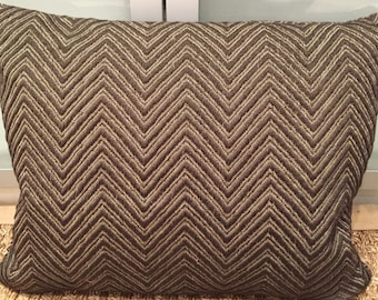Classic Cloth chevron fabric pillow 16x20 with stuffer