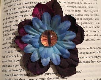 Flower creature hair clip