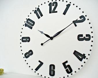 Large wall clocks 28 Inch / 70 cm Big Wall Clocks  White clock Farmhouse decor