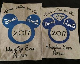Disney Engagement Shirt, Newly Engaged Shirts, Disney Wedding, Disney proposal, Newly Weds, Womens Disney Engagement, Mens Disney Engagement