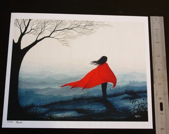 """Limited edition fairytale Giclee art print 8"""" x 12"""" Grimm fantasy landscape 'The Wild'"""