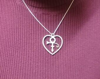 Prince pendant Encased inside a heart