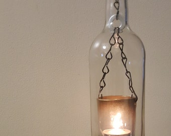 Clear Hanging Bottle Candle Light