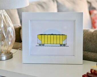 Train Coal Car Art Print
