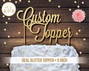 Name cake topper, custom cake topper, large cake topper, personalised cake topper, gold cake topper, first birthday topper, wedding cake