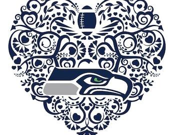 Football Seattle Seahawks Heart Digital Cut File