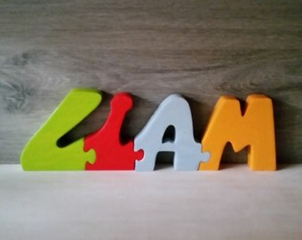 Liam wooden name letters