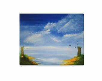 """Canvas Art Print 20""""x16"""" +3 other sizes -The Guarded Coast- FREE Shipping"""
