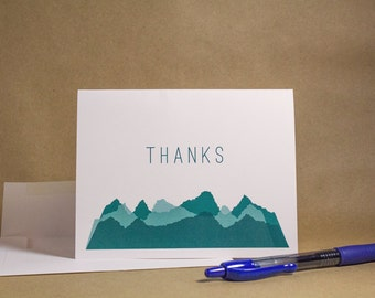 Mountain Thank You Card | Instant Download Printable Template | Simple Thanks