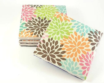 Spring Flower Coasters – Ceramic Coasters – Ceramic Tile Coasters – Drink Coasters – Housewarming Gift – Floral Coasters – Tile Coasters