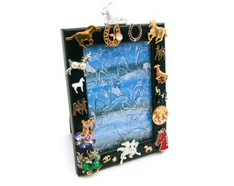 Horse-Themed Picture Frame