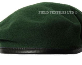 Green Knitted Wool Beret - Size Large - Genuine Issue - Uniform - NEW