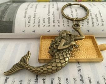 Mermaid keychain, mermaid gifts key ring