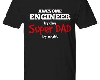 Engineer Super Dad, Engineer Gifts, Engineer Shirt, Gifts for Engineers, Engineer t shirt