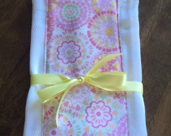 Baby Girl Burp Cloth