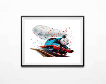 Disney Print, Thomas the Train, Thomas Art, Thomas Art Print, Train Print, Thomas Print, Thomas Poster, Thomas and Friends, Thomas Gifts