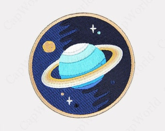 Planet Iron On Patch, Embroidery Planet Applique Iron On Patch