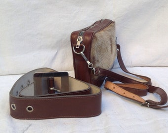 70s Pony Purse // vintage leather bag // Leather bovino vintage // Borsetta da cintura // borsetta marsupio