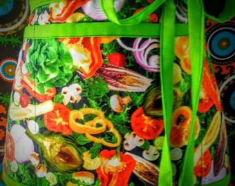 Vegan vegetarian  apron, Utility apron, Teacher apron,Waitress. apron