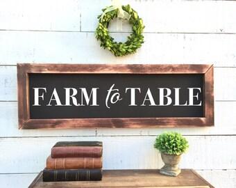 Farm to table, chalkboard, rustic home decor