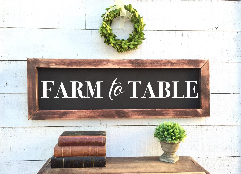 Farm To Table Chalkboard Rustic Home Decor