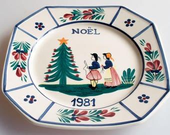Quimper Minstrel Collectors Plate