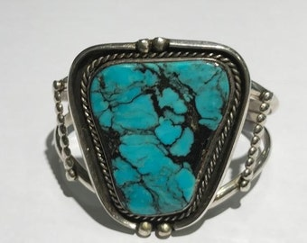 Sterling Silver Statement Turquoise Cuff Bracelet