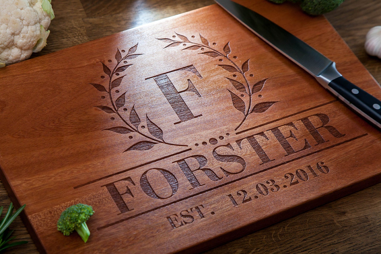 engraved cutting board personalized cutting board wedding day engraved cutting 29633