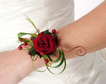 Preserved flowers bracelet Vanessa for your wedding - flower bracelet