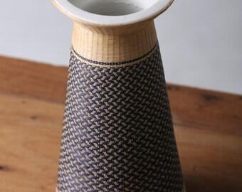 Wicker ceramic vase #Thai Handmade #For lovely flower #Home Decor