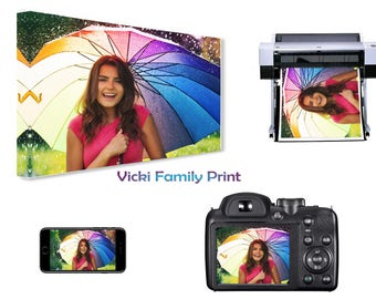 """Personalised A4 9""""x12"""" Canvas Print, your photo - 18mm Frame, 280gsm"""