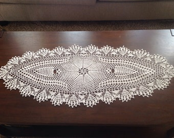 Oval Handmade Crochet Doily