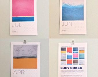 2017 Calendar, Art Calendar - images of original paintings by Lucy Coker