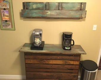 Rustic/Vintage Coffee Station and Kitchen Island