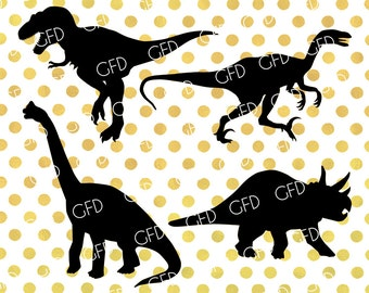 Dinosaurs Silhouette SVG,Dinosaurs SVG, Dinosaurs Clipart, Dinosaurs Digital Cutting File, Instant Download, Svg, Dxf, Jpg, Eps, Png