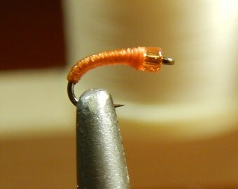 Three (3) O.J. midge flies, size 18-24, for fly fishing