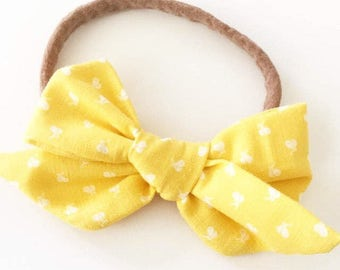 Lemon Drop Handtied Janie Bow