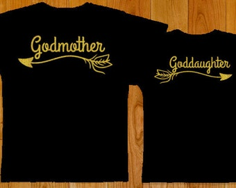 Godmother Goddaughter Matching Shirts with Arrows - Goddaughter Gift - Godmother Gift